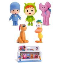 Kit 10 Bonecos Pocoyo Elly Nina Loula Pato e Miniaturas - Cardoso Toys