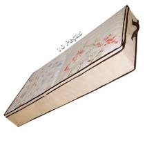 Kit 10 Caixa Organizadora Flexível Multiuso Bege com Borda Reforçada Marrom 80x45x15 cm Kehome -