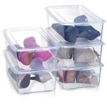 Kit 10 Caixas Organizadoras para Sapatos 36x22x12 cm Modelo 1816 Grande Organizador Arthi -