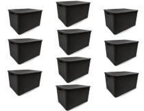 Kit 10 Caixas Organizadoras Rattan PRETA 40 Litros Arqplast -