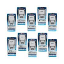 Kit 10 Carregadores Micro-USB V8 Kingo 1.2A 5V p/ Galaxy J6 -