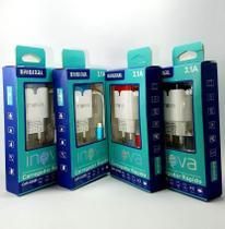Kit 10 Carregadores Rapido Inova Originais 3.1a Com 2 USB -