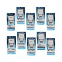 Kit 10 Carregadores USB V8 Kingo 1.2A 5V p/ Galaxy J6 Plus -