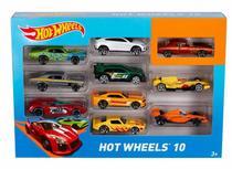 Kit 10 Carrinhos Básicos Sortidos - Hot Wheels 54886 - Mattel