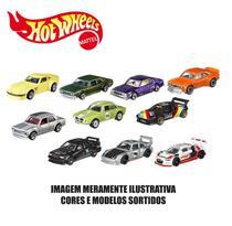 Kit 10 carrinhos básicos sortidos hot wheels - mattel 54886 -