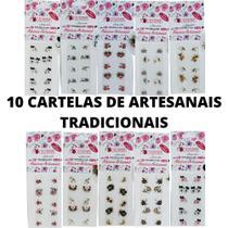Kit 10 Cartelas Artesanais Tradicionais Moderninhas - Moderninhas Adesivos