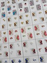 Kit 10 cartelas de películas para unhas com joias - Bh Peliculas