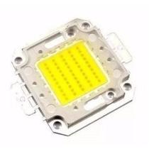 Kit 10 Chip Led 50w Para Reposição De Refletor 50w (chip 1 Linha) - Eks