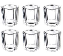 Kit 10 Copo Aperitivo Vaso Castiçal De Vidro Quadrado Vela - Glass Cup