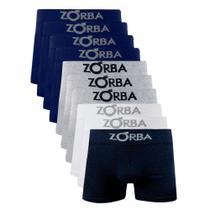 Kit 10 Cuecas Boxer Em Algodão Adulto ZORBA-781 - Sortida -