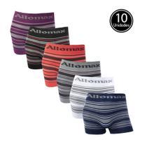 Kit 10 Cuecas Boxer Em Microfibra Adulto - Altomax