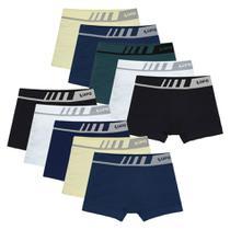 Kit 10 Cuecas Lupo Boxer Sem Costura Microfibra Infantil 136 -