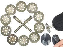 Kit 10 Discos Diamantado Corte 22 Mm Micro Retifica Metal Vidro - Titanium