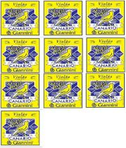 KIT 10 Encordoamento Violão Aço Canário com Bolinha - Giannini