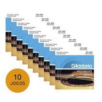 Kit 10 Encordoamentos Violao Aco Daddario Ez910 011 -