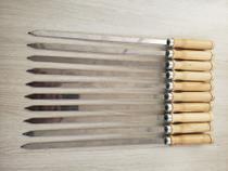 Kit 10 espetos inox - lâmina 30 cm comprimento - Jl Ind Com