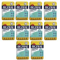 Kit 10 Fraldas BIGFRAL CONFORT GD 80 Unidades - Ontex