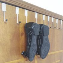 Kit 10 Gancho Sapateira Cabideiro Mancebo Cromado na Porta Organizador para Roupas Sapatos e Bolsa - Nacional
