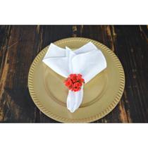 Kit 10 Guardanapos branco tecido Oxford Alto padrão -40x40cm - Fabrika De Festa