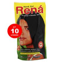 Kit 10 Henê Gel Preto Natural 180g - Embelleze -