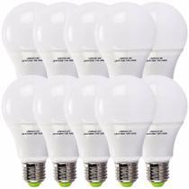 Kit 10 lampada led 12w bulbo soquete e27 bivolt branco frio - Brilhant