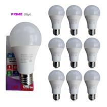 Kit 10 Lâmpada Led bulbo 15W Bivolt Branco Fria 6500k E27 residencial comercio - Prime Light