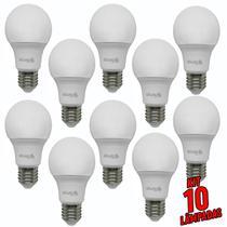 Kit 10 lâmpadas bulbo led a60  12w  6500k  bivolt  - galaxy led -