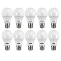 Kit 10 Lâmpadas LED 6500K 9,0W TKL60 100-240v E-27 Taschibra -