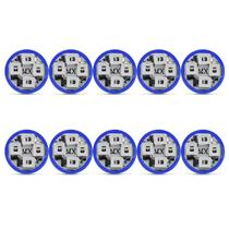 Kit 10 Lâmpadas T10 4 LEDs 12V Luz Azul Aplicação Farol Baixo - Mixcom
