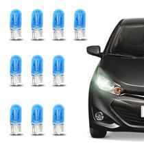 Kit 10 Lâmpadas T10 Pingo W5W 4200K 5W 12V Luz Branca Aplicação Placa Faróis Carro - Shocklight