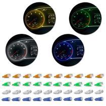 Kit 10 Lâmpadas T10 W5W Pingo Esmagadinha 5W 12V Aplicação Painel Todas as Cores Autopoli -