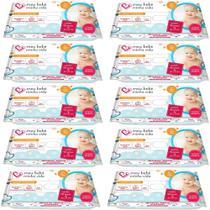 Kit 10 Lenço Umedecido Meu Bebê Minha Vida Nutriex C/ 40 Unidades -