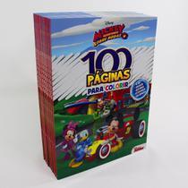 Kit 10 Livros  100 Páginas Para Colorir e Aprender  Disney Mickey - Rideel