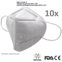 Kit 10 Máscara K N 95 Anvisa  FDA CE emb Individualmente Bfe95% - W.Tiexiong