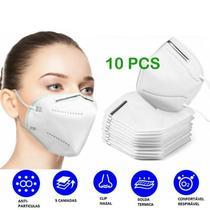 kit 10 Máscara Proteção Hospitalar KN95 Clip Nasal - Bompack