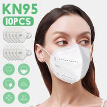 Kit 10 Máscara Respiratória KN95 FFP2 40 horas de uso - Lanxi