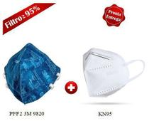 Kit 10 Máscaras de Proteção = (05) PFF2 3M 9820 + (05) KN95 N95 -