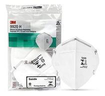 KIT 10 Máscaras de Proteção Respiratória 3M - 9920H Respirador PFF-2 (S) para Riscos Biológicos -