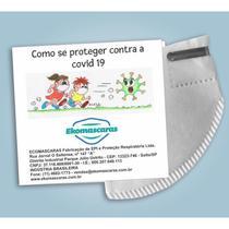 Kit 10 - Máscaras Infantil PFF2 N95 Tamanho P - Branca - Ekomascaras - Proteção Respiratória -