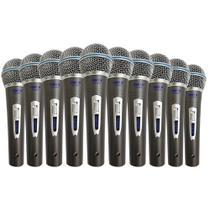 Kit 10 Microfones Com Fio TK-22C Onyx -