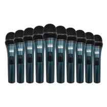 Kit 10 Microfones Com Fio TK-51C Onyx -