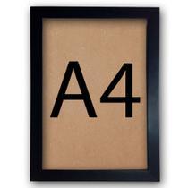 Kit 10 Molduras A4 Para Certificados Diplomas Fotos Poster Com Vidro 30x21cm - Clic Store
