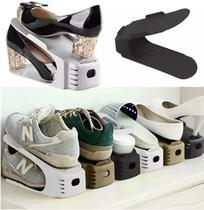 Kit 10 Organizador Rack Sapato Sapateira C/regulagem Altura Branco - Megafun