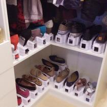 Kit 10 Organizador Rack Sapato Sapateira C/regulagem Altura Off White - Megafun