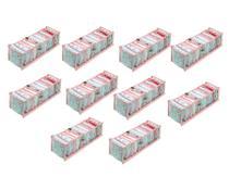 Kit 10 Organizadores de Gavetas Transparente e Rosa 604 VB Home -
