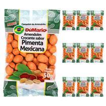 Kit 10 Pacotes Amendoim Crocante Sabor Pimenta Mexicana 50 gramas - Amendoim dumario