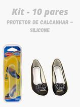 Kit 10 pares - Protetor de Calcanhar - Silicone - Adesiva - Qualype