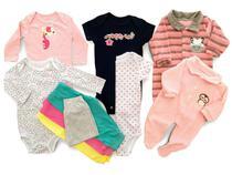 Kit 10 Pçs Body Macacão Calça Bebê Recém Nascido Meninas - Baby Bird