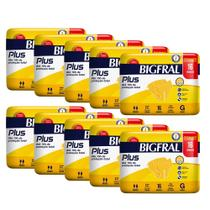 Kit 10 pcts de Fraldas Adultas Bigfral Plus G - 160 Unidades -