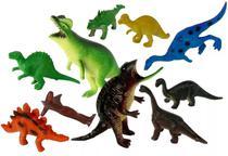 Kit 10 Peças Dinossauro De Borracha Miniatura Pequena Festa - Ark Toys